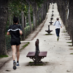 Running in El Retiro Park