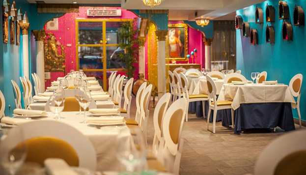 Pure Bollywood style. Vibrant colours stand out in the decor at Swagat.
