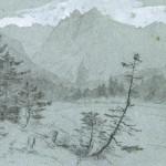 """El valle de Inn. Cerca de Brennbichl"" (C.a 1854). Carl Gustav Carus."