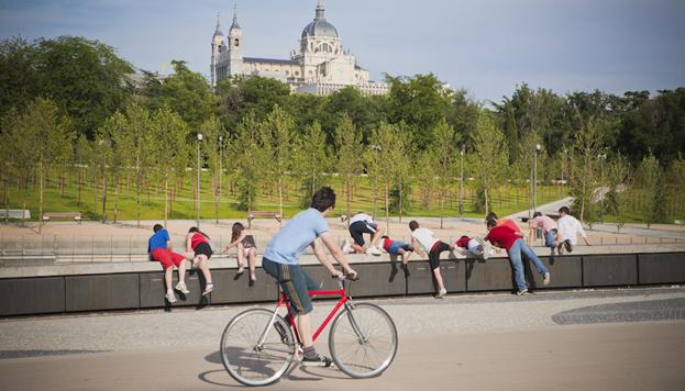 Madrid Río en bicicleta