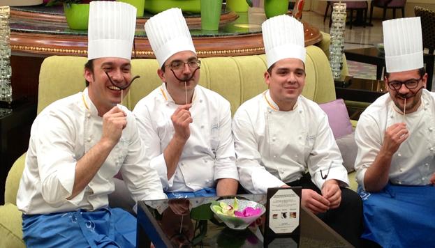 Los cuatro chefs