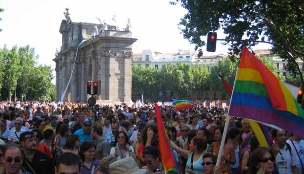 Gay Pride Week. Puerta de Alcalá