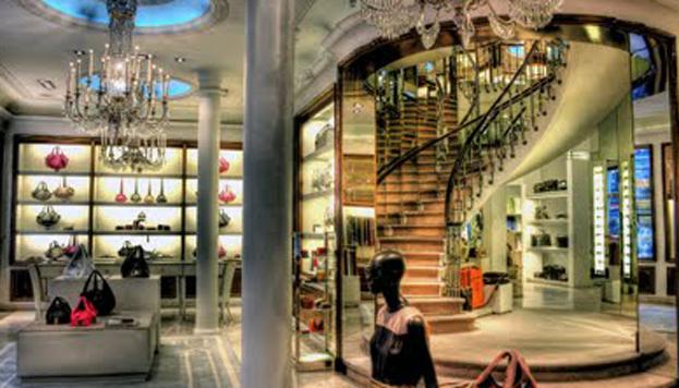 Loewe. Interior de la tienda de Gran Vía