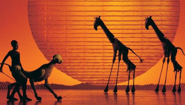 El Rey León. Guepardo y jirafas