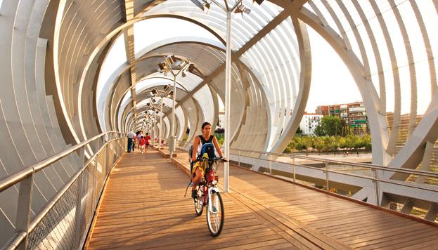 En bici por Madrid Río