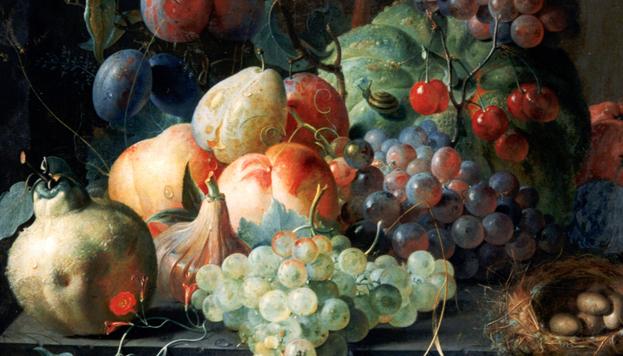 Bodegón con frutas. Coenret Roepel. Museo Lazaro Galdiano