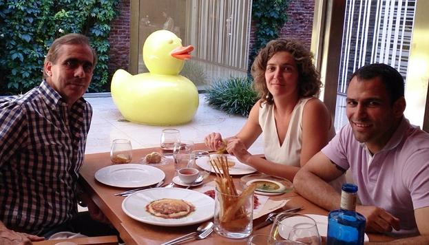 Con Benjamín Calles, en el restaurante Pandelujo.