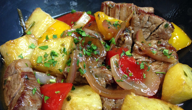 The fare at Casa Alberto is homemade and tasty. One example is this sautéed sirloin.