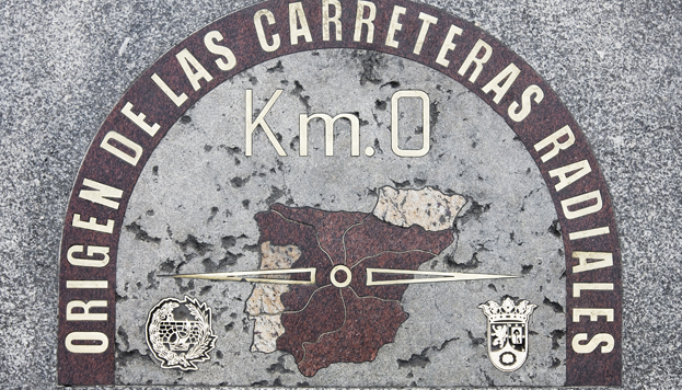 The plaque that marks Kilometre Zero of Spain's radial motorways is located in Puerta del Sol.