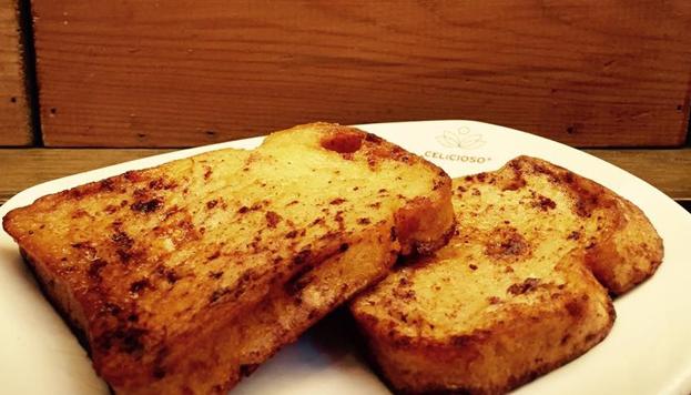 Las torrijas de Celicioso son especiales para celíacos: no tienen gluten y están bañadas en leche sin lactosa.