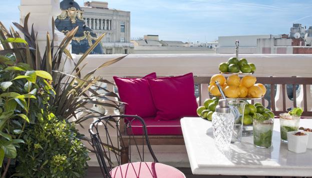 ¿Qué tal un té en la Gran Vía? Las vistas desde la terraza de The Principal son espectaculares.