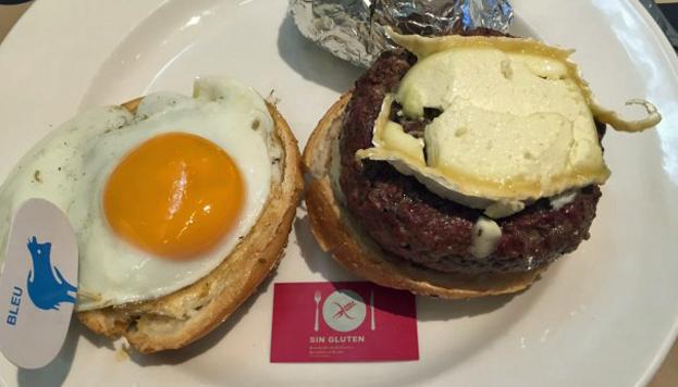 Esta es una de las estupendas hamburguesas que los celíacos pueden degustar en New York Burger.