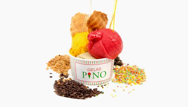 De frambuesa y mango es este helado de Gelati Pino, ideado por el maestro italiano Giacomo Schiavan.