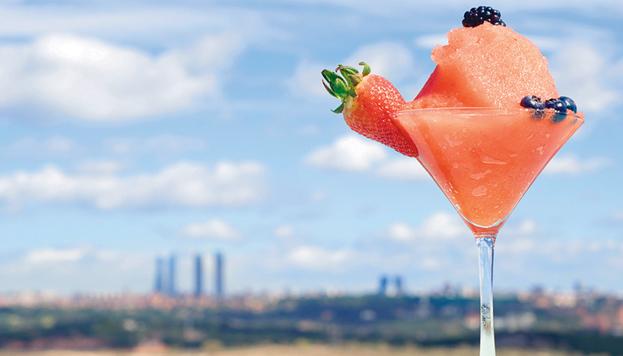 En el Cielo de Urrechu te puedes tomar un daiquiri de fresa... ¡y disfrutar de las vistas!