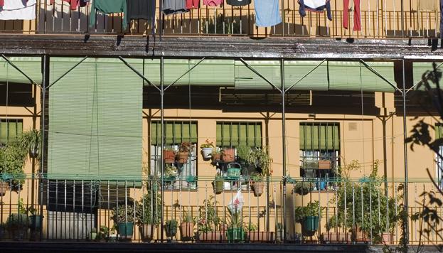Las corralas, como esta de Lavapiés, eran las casas populares del viejo Madrid.