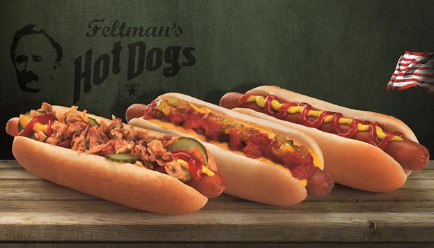 Con un aire muy neoryorquino, Feltman's sirve perritos riquísimos, hechos con pan horneado a diario.