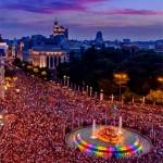 Plaza de Cibeles. Fiestas del Orgullo Gay