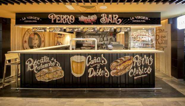 Así de bien luce la barra del Perro Bar, recién inaugurado en el Gourmet Experience de El Corte Inglés de Callao.