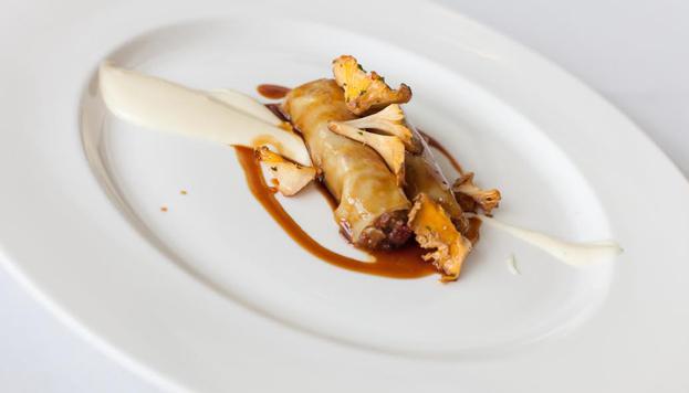 Imposible preparar una carta otoñal sin incluir las tradicionales setas. Estas son del restaurante Lágrimas Negras.
