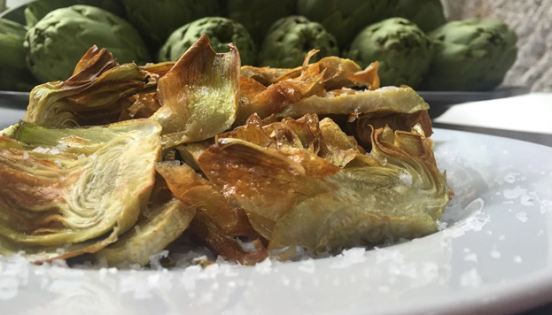 Las alcachofas están de moda en Madrid. Estas tan apetecibles las sirven en Ponzano 12.