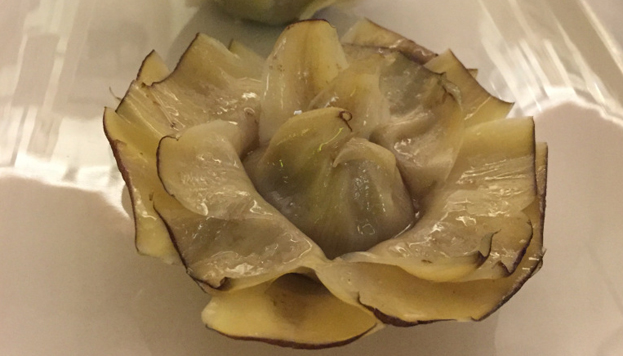 Además de estar muy ricas, las alcachofas confitadas de la Taberna Pedraza son realmente bonitas.