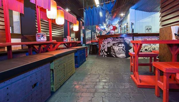 En Hattori Hanzo los clientes tienen la sensación de estar en un auténtico callejón de Tokio.