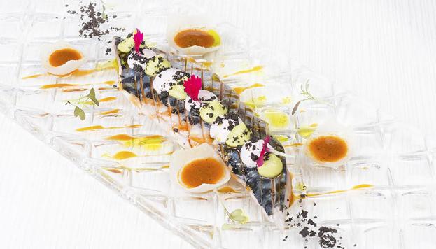 Este tiradito es uno de los platos que se pueden degustar en el restaurante Kena, de Luis Arévalo.