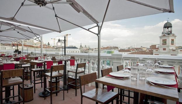 La taberna Puertalsol es la nueva propuesta en Madrid de Alberto Chicote. Las vistas son inmejorables.