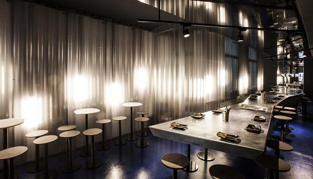 Barra M (/M), el nuevo espacio del chef peruano Omar Malpartida en la calle Libertad.