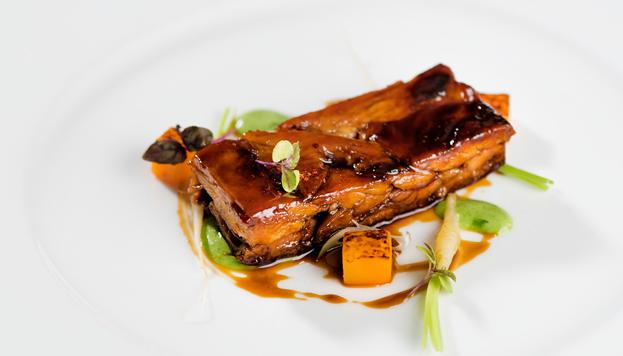 En el restaurante La Manzana, en el hotel Hesperia Madrid, los asistentes podrán disfrutar de platos como este.