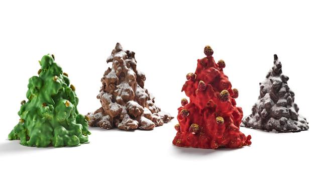 Hay dulces navideños clásicos y otros muchos más modernos, como estos abetos de La Duquesita.