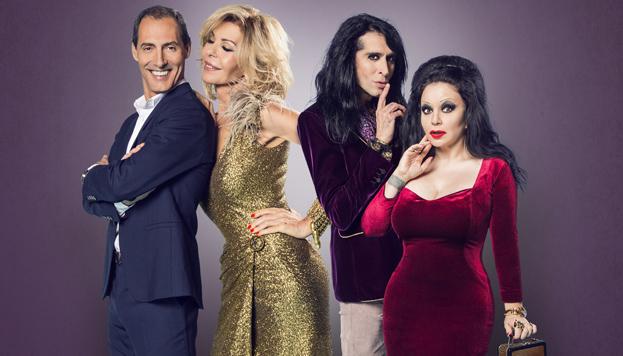 Los protagonistas de El amor sigue en el aire. En el Teatro Capitol hasta el 8 de enero.