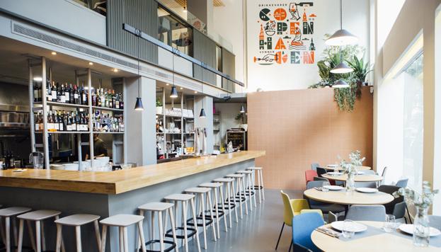 Este es Copenhaguen, el nuevo restaurante vegetariano de la calle Ortega y Gasset.