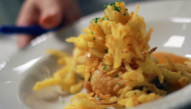 Este plato se llama Parada en Landa, Parada en Landa, versión de los huevos con morcilla y patatas fritas del mítico restaurante de Burgos.