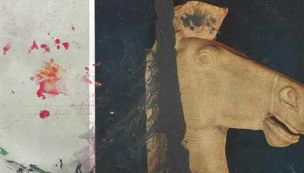 Cartel de la exposición Reinterpretada III. El gran juego, de Jorge Galindo