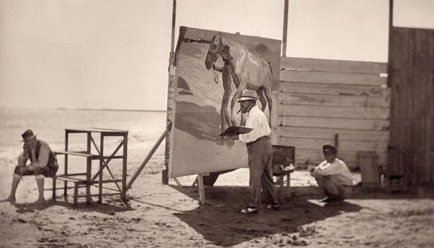 Una de las fotografías que se pueden ver en la exposición Sorolla en su paraíso.