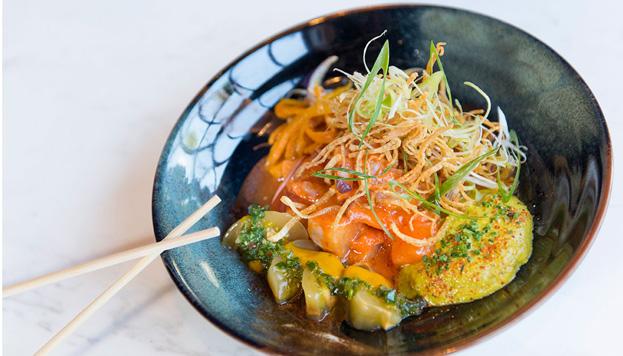 En Sasha Boom se rinde culto a la cocina peruana con platos realmente memorables, como este ceviche Globe Trotter.