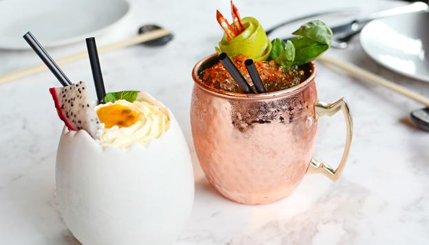 Además de comer, en Sasha Boom también se pueden degustar divertidos y variados cócteles.