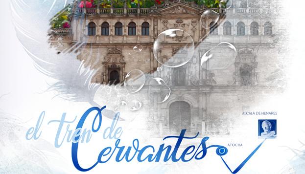 El Tren de Cervantes ofrece arte y literatura a bordo de un vagón. Toda una experiencia.