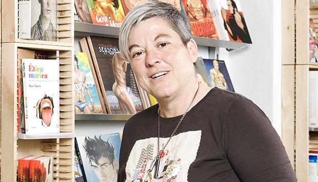 Mili Hernández, propietaria de la librería Berkana