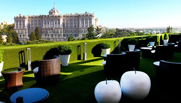 Y para terminar, la Terraza de Sabatini, justo enfrente del Palacio Real.