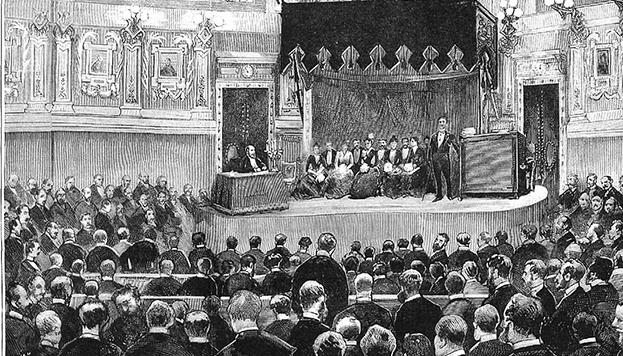 1887-03-30, La Ilustración Española y Americana, Ateneo de Madrid, Conferencia dada por el conde de Morphy, Comba, Rico.