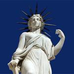 Estatua de la Libertad, en el Panteón de Hombres Ilustres