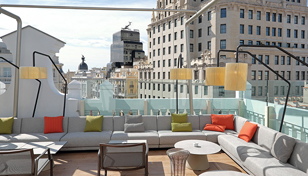 Terraza Picalagartos, en el NH Collection Gran Vía