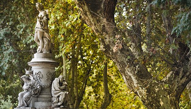 La Fuente de Apolo también es conocida como la Fuente de las Cuatro Estaciones