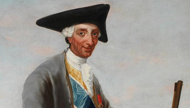 Detalle del cuadro Carlos III, cazador de Francisco de Goya (Museo del Prado)