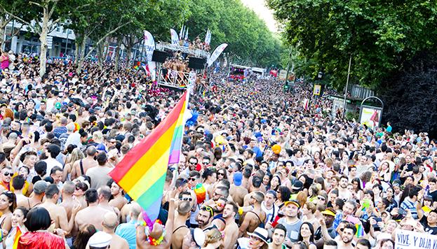 Manifestación de las fiestas del Orgullo