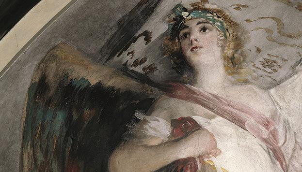 Detalle de los frescos de Goya, San Antonio de la Florida