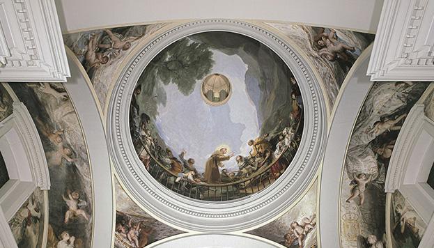 Interior de la Ermita de San Antonio de la Florida