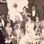 Emilia Pardo Bazán en un banquete. 300x300